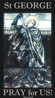 """One Minute Reflection – 23 April – Monday of the Fourth Week of Eastertide and the Memorial of St George Since we have these promises, beloved, let us cleanse ourselves from every defilement of flesh and spirit, making holiness perfect in the fear of God.…2 Corinthians 7:1 REFLECTION – """"Saint George was a man who abandoned one army for another, he...#mypic"""