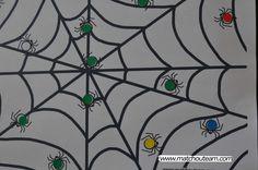Fiches sur le thème d'halloween |     Coller des gommettes,   comparer des tailles, trier des citrouilles...