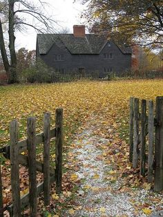 Very early, 17th c. Massachusetts  home.