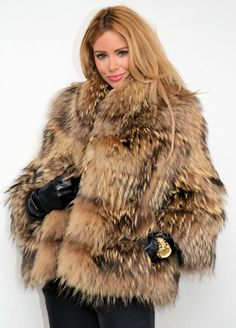 FinnRaccoon fur jacket  More Men's and Women's Fur Fashion Looks On @anandco #furfashion #furonline  Add, Pin, Share!