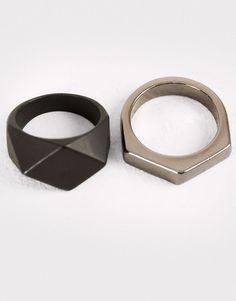 Pull&Bear - hombre - accesorios - pack anillos variados - varios - 09995506-I2016 #men'sjewelry