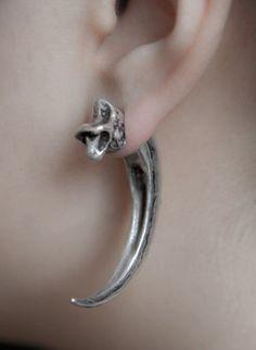Velociraptor claw earrings!