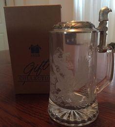 Avon Pewter-lidded Glass Tankard 1997 Bald Eagle NEW IN BOX Christmas Gift Stein  | eBay