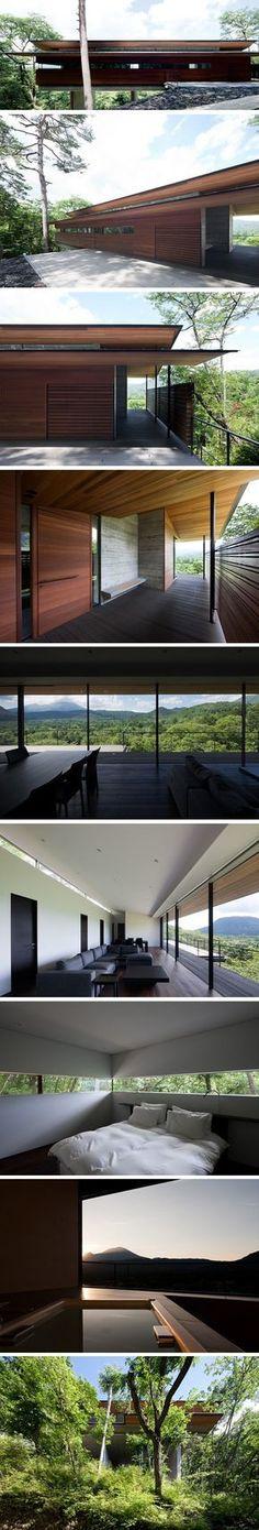 Maison perchée à Asamayama par Kidosaki Architects Studio 2 #casasminimalistasjaponesas