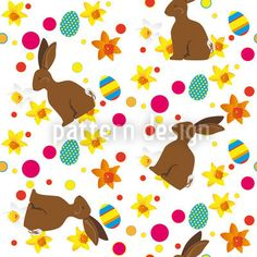 Easter Bunny designed by Martina Stadler, vector download available on patterndesigns.com Coloring Easter Eggs, Repeating Patterns, Vector Pattern, Abstract Pattern, Easter Bunny, Kids Rugs, Design, Kid Friendly Rugs