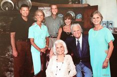 The Graham family (Billy and Ruth Graham surrounded by their children, Franklin, Anne, Ned, GiGi and Ruth) from the Billy Graham Christmas card 2003