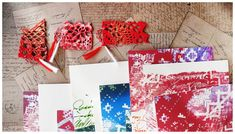 Traditional Martisor, 1 Martie, Artistic Crochet, Original Handwrite, Romanian Tradition, Lucky Charm, Art Card and Printed Envelope Beginning Of Spring, Lucky Charm, Fruit Trees, Envelope, Red And White, Gift Wrapping, Traditional, The Originals, Printed