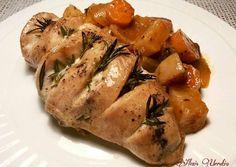 Pechuga de pollo al horno, con romero y mantequilla