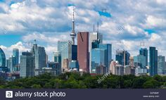 Download this stock image: Insider view of Toronto skyline from Broadview Avenue in 2016. The landmark is a major tourist attraction in Canada. - g37mmf from Alamy's library of millions of high resolution stock photos, illustrations and vectors.