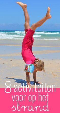 Op het strand kun je allerlei verschillende activiteiten ondernemen. Ik bedacht er acht en deel ze graag met je. Alleen de zon hoeft nog maar te schijnen! Beach Mat, Outdoor Blanket, Sports, Dutch, School, Brittany, Hs Sports, Dutch Language, Sport