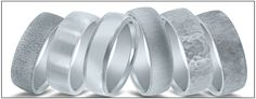 Wedding band finishes offered by Novell. Just a few.