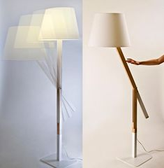 Antithesis lamp - moving structure - counterweight to balance betweeb different positions - Iva Dinulovic