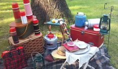vintage picnic camping rental decorations for weddings & special events | celery city trading company