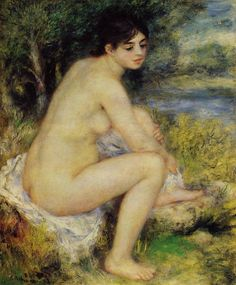 Seated Bather Pierre Auguste Renoir