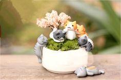 Cheap doll jewelry, Buy Quality doll make directly from China pot light Suppliers: Neko Atsume Meow Mochi Dango Cat Flower Pot Micro Landscape 6pcs Mini Doll   Feature:&