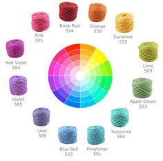 Color Theory 101: selecting yarns that go together ~:: FreshStitches ::~ A lot of patterns going around at the moment feature stripes: two or three colors