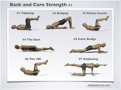 Back strengthening exercises: Illustrated with lifelike figures.