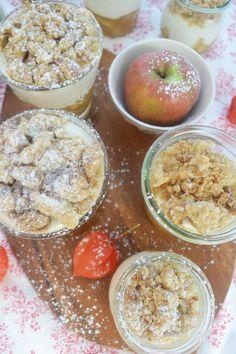 Let's Crumble! <3 Diesmal wird unser Liebling, der Apple Crumble kalt serviert und das im schönen Glas! Oh da strahlen die Gesichter! Wir stellen uns vor: ein aromatisch, fruchtiges Apfelkompott...