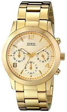 GUESS Women's U13578L1 Contemporary Gold-Tone Chronograph Watch GUESS http://www.amazon.com/dp/B0034I1X1U/ref=cm_sw_r_pi_dp_2L5.tb1K6FFGT