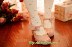 LizLisa Replica Elegent Square Head Lolita High-heeled Shoes with Ruffles $60.99-Girls Lolita Shoes - My Lolita Dress