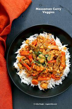 Massaman Curry Vegetables. Gluten-free Vegan Soy-free Recipe | Vegan Richa http://www.veganricha.com/2014/05/massaman-curry-vegetables-gluten-free.html