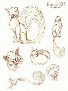 Demoon-Design von chutkat auf DeviantArt - New Sites Animal Sketches, Art Drawings Sketches, Animal Drawings, Cool Drawings, Mythical Creatures Art, Fantasy Creatures, Creature Drawings, Creature Concept Art, Art Reference Poses