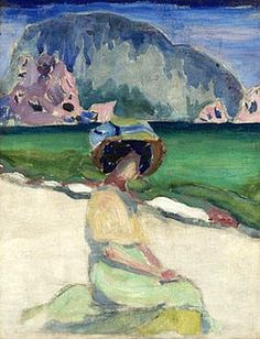 Lentulov, Aristarkh (1882-1943) - Woman by the Shore (Private Collection) by RasMarley, via Flickr