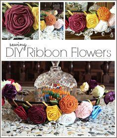 DIY Ribbon Flowers #flowers