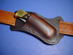 Custom leather Right Cross draw pocket knife sheath far a buck 110 are 112 in Sheaths | eBay