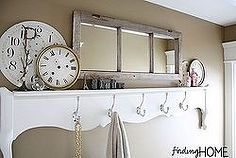 bathroom decorating ideas vintage footboard towel rack and shelf, bathroom, repurposing upcycling