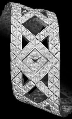 Delaneau - Montre 'Eclat' - Or Blanc et Diamants