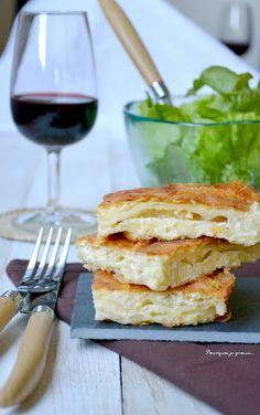 En entrée, c'est Gibanica ! Crousti-moelleux de feuilles de brick et de fromage !