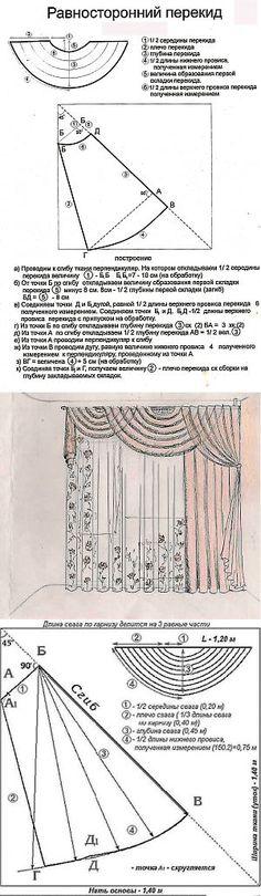 Схемы, советы | Шторы, пошив штор, лекала | Дом и уют | Постила