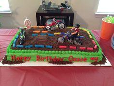 Fifth Birthday Cake, Dirt Bike Birthday, Birthdays, Party Ideas, Desserts, Food, Anniversaries, Tailgate Desserts, Deserts