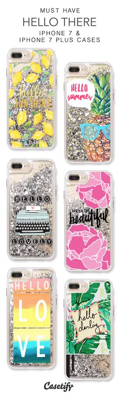 Must Have Hello There iPhone 7 Cases & iPhone 7 Plus Cases. More protective liquid glitter quote iPhone case here > https://www.casetify.com/en_US/collections/iphone-7-glitter-cases#/?vc=4i6yq4T8MZ