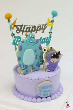 Monsters, Inc. Sulley & Boo Birthday Cake