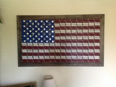 Large HandCrafted Shotgun Shell American Flag by HarveyDesign