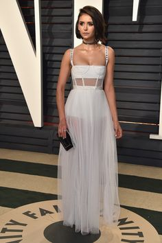 Nina Dobrev Oscar Party 2017, Nina Dobrev Style, Oscars 2017, Red Carpet Fashion, Daily Fashion, Fashion Fashion, Fasion, Fashion News, Celebrity Red Carpet