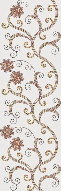 floral design embroidery allover pattern