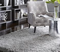 Who needs a chair when you can snuggle on a plush shag rug after a long day? Interior Styling, Interior Design, Floors And More, Custom Rugs, Flooring Options, Carpet Flooring, Large Furniture, Elegant Homes, Beautiful Bedrooms