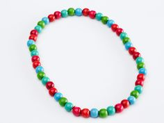 Kids Multicolored Wood Lacquered Necklace