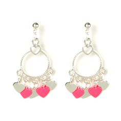 These Ring of Hearts Drop Earrings are perfect for Valentine's Day, but could share the love any day of the year!