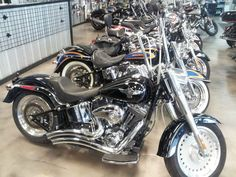 """2012 Harley-Davidson Softail Fat Boy   Vivid black with 476 Miles, 2 into 2 Big Radius Pipes and 16"""" Apes with internal wiring and braided lines #2330 Call For Pricing"""