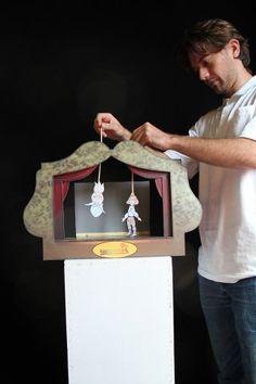 Papírszínház készítés a pedagógus bábműhelyben