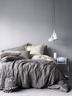 Beautiful Grey Linen Bedding by H&M Home