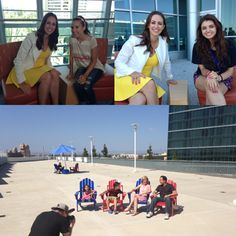 More great moments at #VidCon for @fastcompany  this weekend!  #EvanTubeHD  family on the patio chairs and our CEO #JesseDraper with @missglamorazzi  and #RebeccaBlack  #Tech #ValleyGirlShow  #YouTube