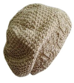8e3a8703625 Frost Hats M-124ND BEIGE Beautiful Spring Beret Light Crochet Hat Frost Hats  at Amazon Women s Clothing store  Skull Caps