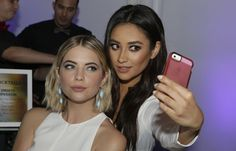 Ashley Benson and Shay Mitchell: proof even celebs can look ridiculous taking selfies. See 90 more examples.