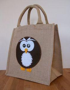 Natural Jute Hessian Medium Shopping Bag by YellowbootsDesigns, $20.00