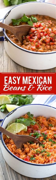 Easy Mexican Pinto Beans and Rice Recipe | Best Mexican Rice | Best Mexican Pinto Beans | Restaurant Mexican Rice | Restaurant Pinto Beans | Authentic Easy Mexican Food